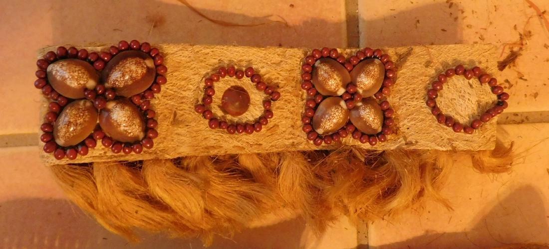Polynesian Grass Skirt w/Helm COA - 7