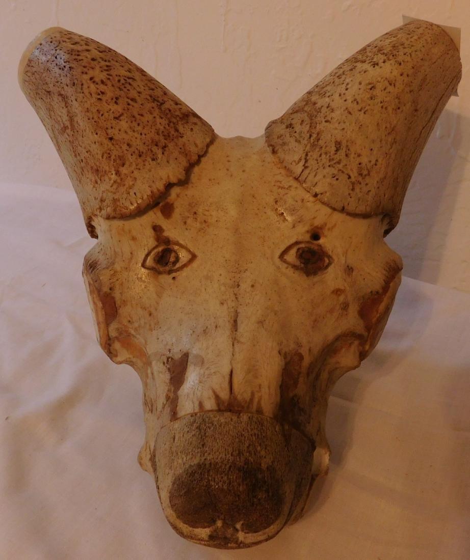 Carved Animal Skull