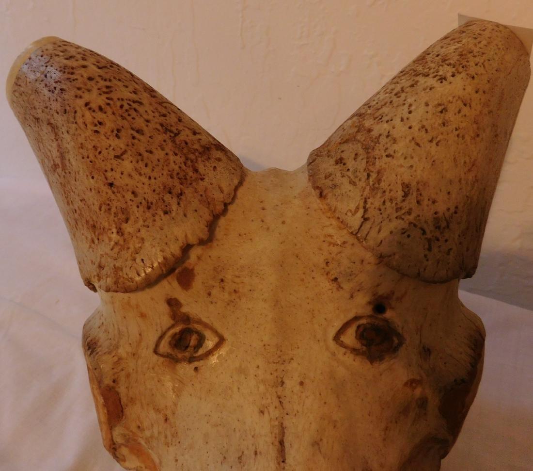 Carved Animal Skull - 4