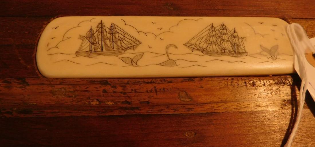 Captain's Scrimshaw Wood Chest - 2