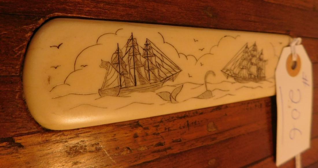 Captain's Scrimshaw Wood Chest - 8