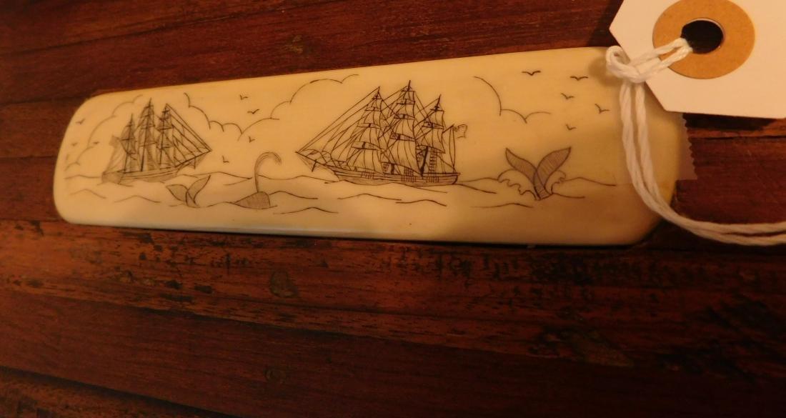 Captain's Scrimshaw Wood Chest - 9
