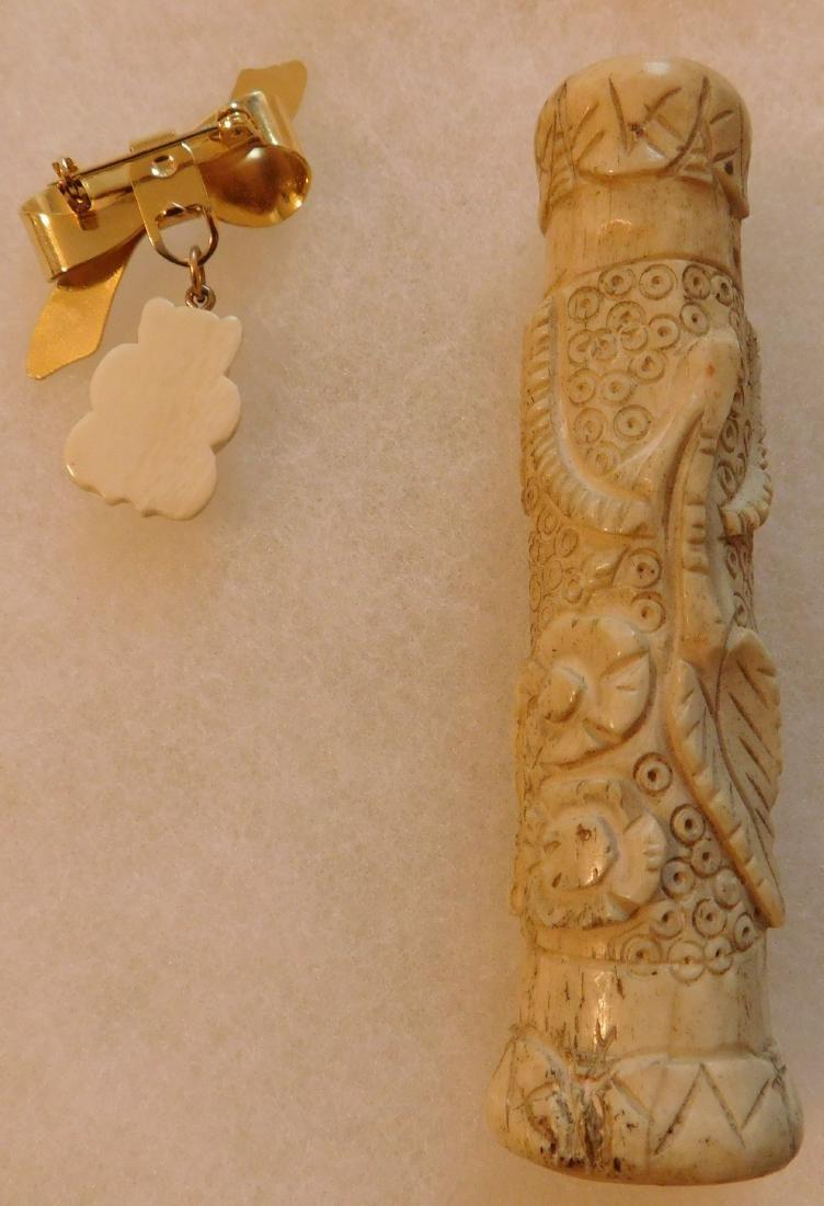 7 Pieces of Alaskan Antique Jewelry - 9