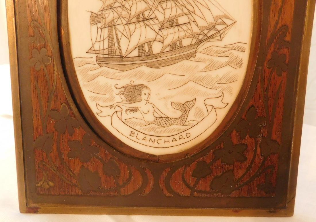 Scrimshaw Plaque of Ship - 2