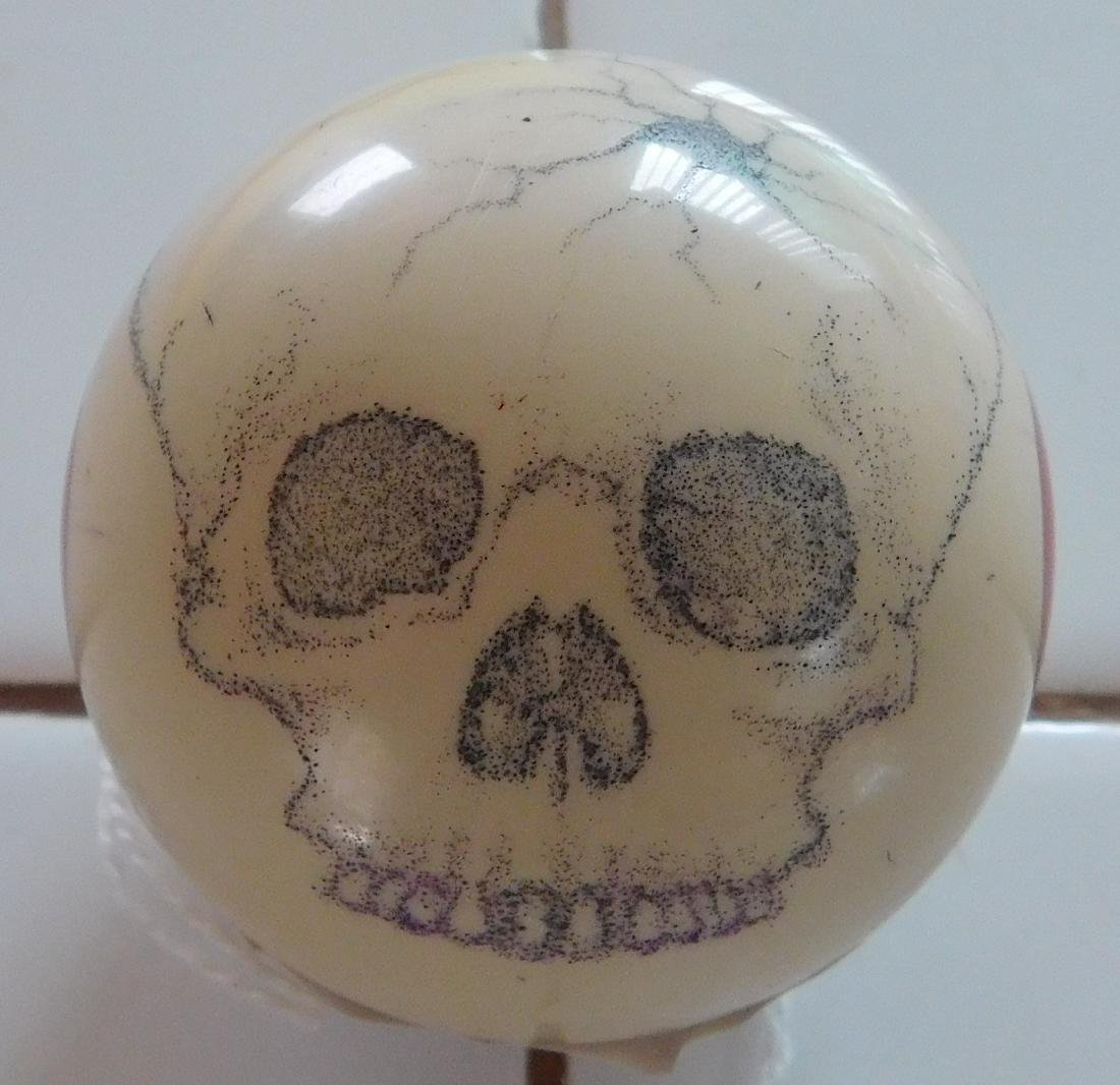 Scrimshaw Cue Ball