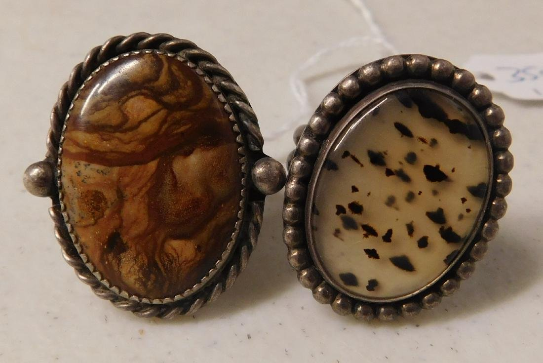 2 Sterling Rings w/Stonework
