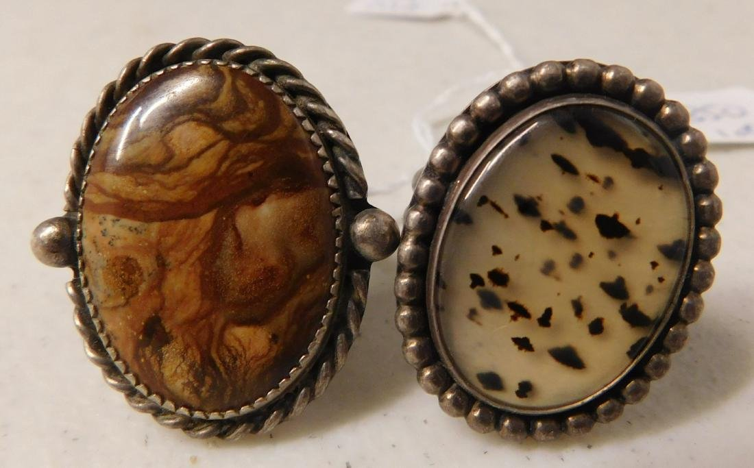 2 Sterling Rings w/Stonework - 2