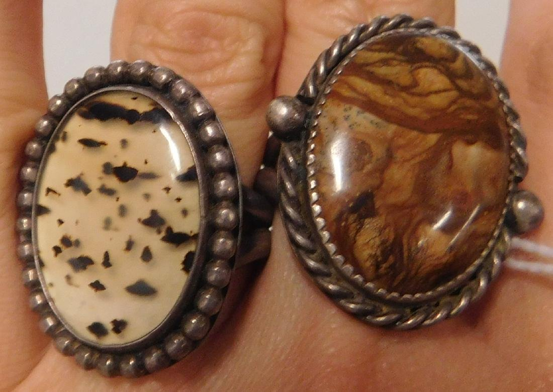 2 Sterling Rings w/Stonework - 5