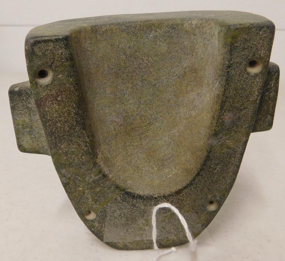 Fine Teotihuacan Stone Mask w/Helm COA - 3