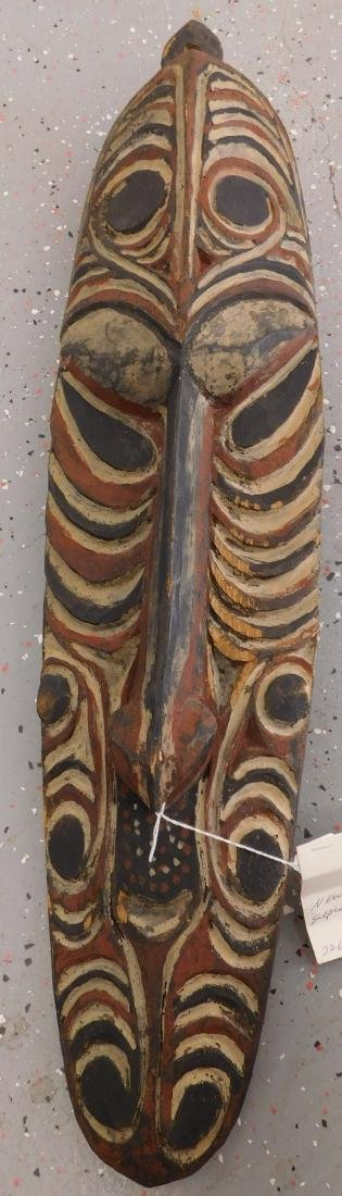 New Guinea Wood Mask w/Helm COA