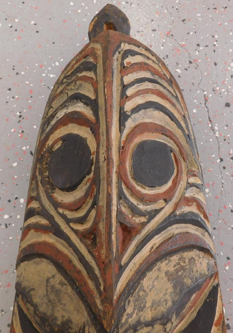 New Guinea Wood Mask w/Helm COA - 5