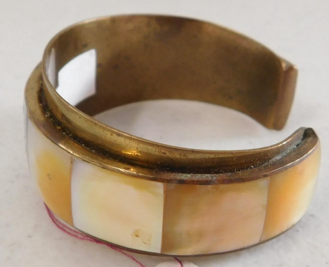 Copper & Inlaid Stone Cuff - 2