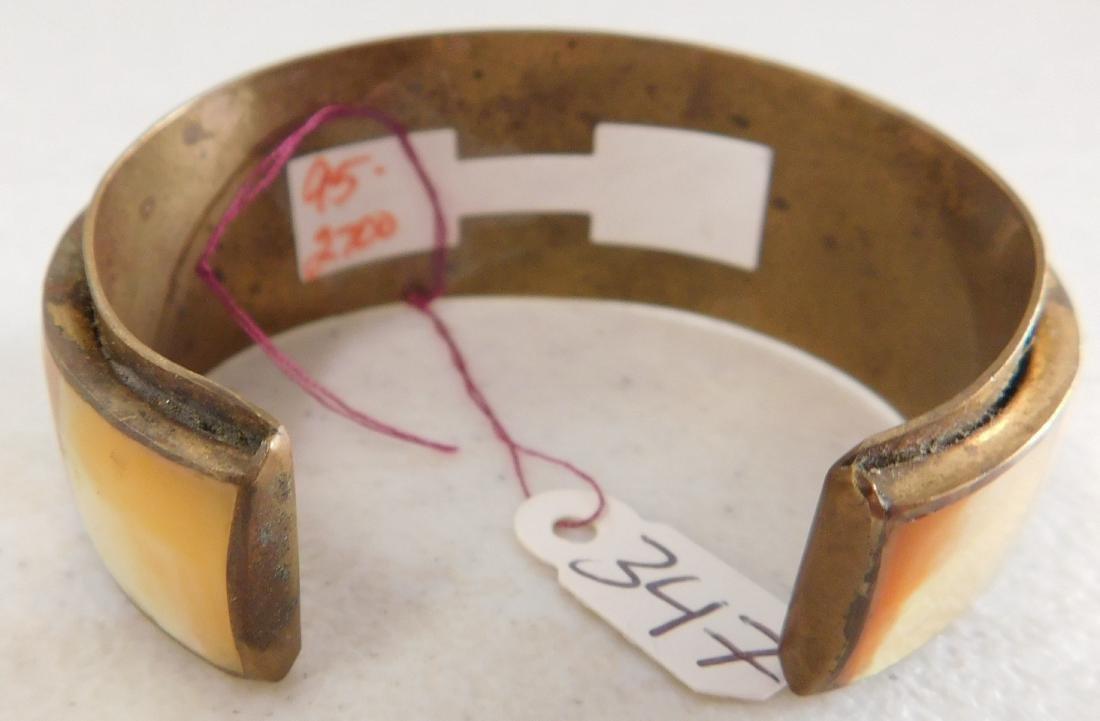 Copper & Inlaid Stone Cuff - 6