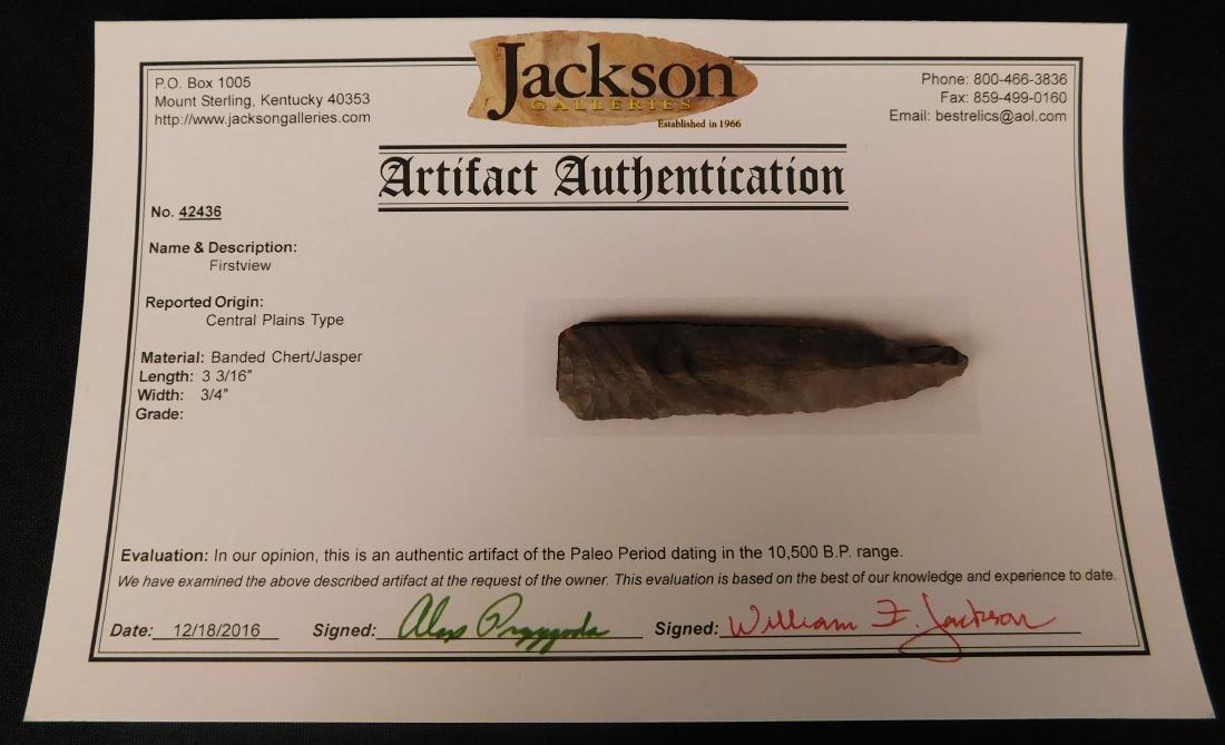 Paleo First View w/Jackson COA
