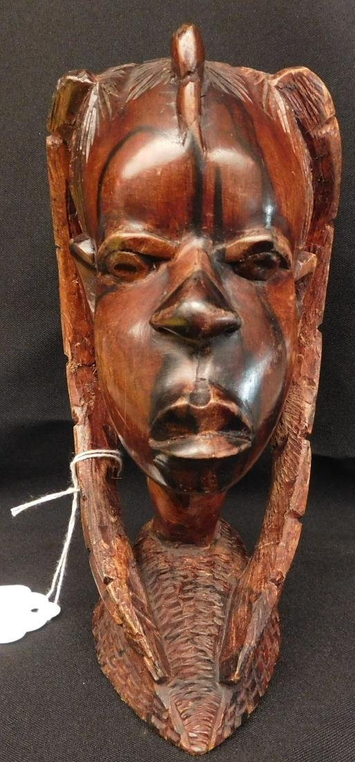 African Female Wood Carving