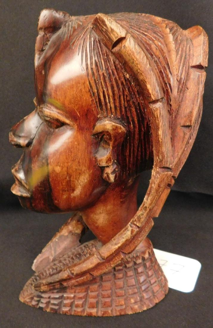 African Female Wood Carving - 8