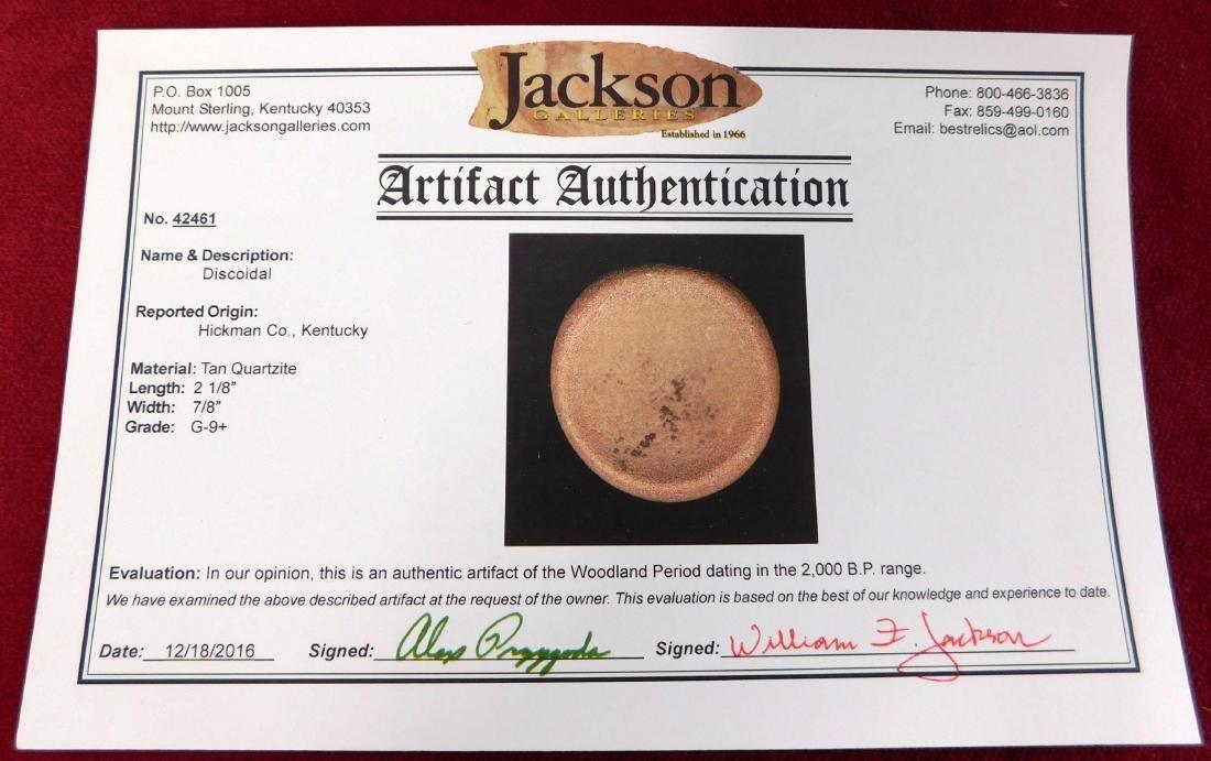 Discoidal Stone w/Jackson COA - 7