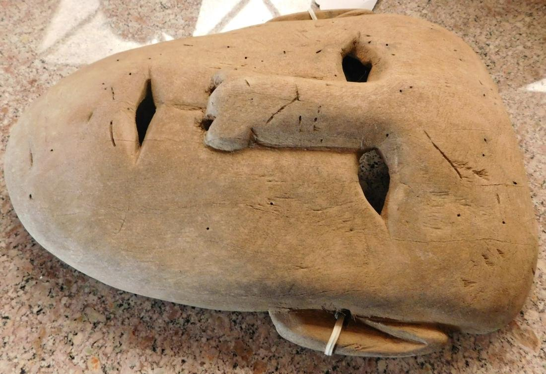 Old Bering Sea Wood Mask - 7