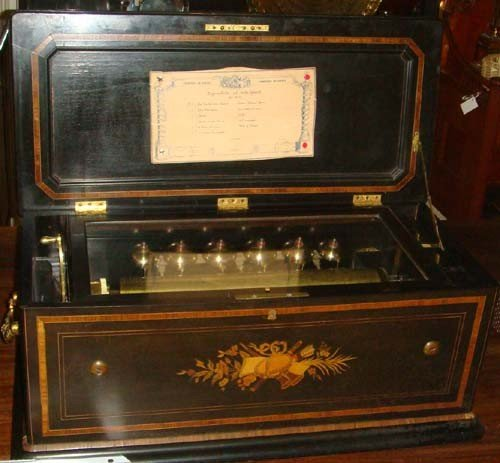 1057: OVERTURE CYLINDER MUSIC BOX BY B.A. BREMOND