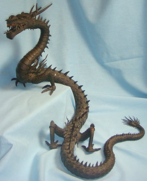 Myochin Jizai Okimono - Articulated Iron Dragon