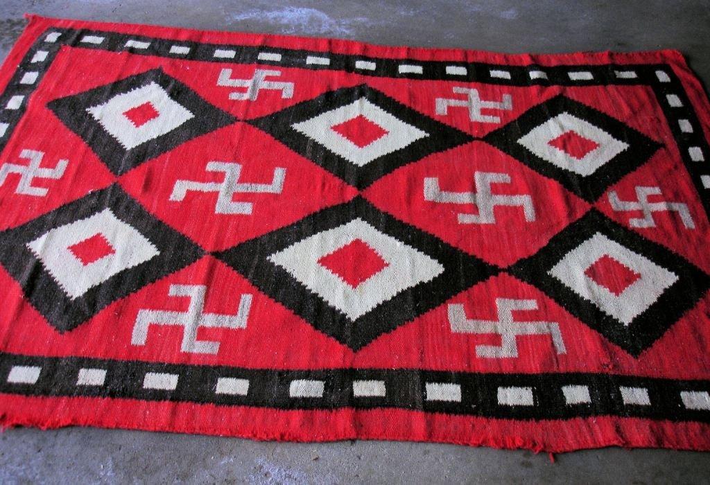 """32: Antique Navajo Rug 82 1/2""""x54"""""""