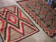 81: 2 Antique Navajo Rugs