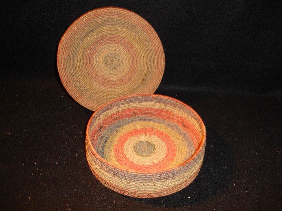 262: Vintage Covered Basket - 2