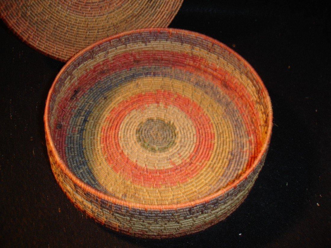 262: Vintage Covered Basket - 3