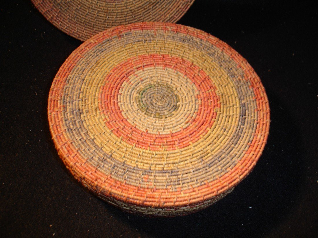 262: Vintage Covered Basket - 4