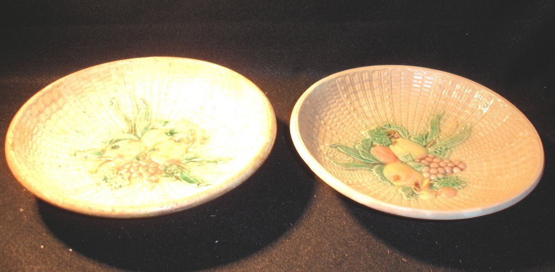 1: 2 Antique Majolica Bowls