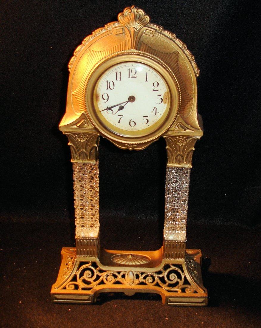 6: Antique German Portico Clock