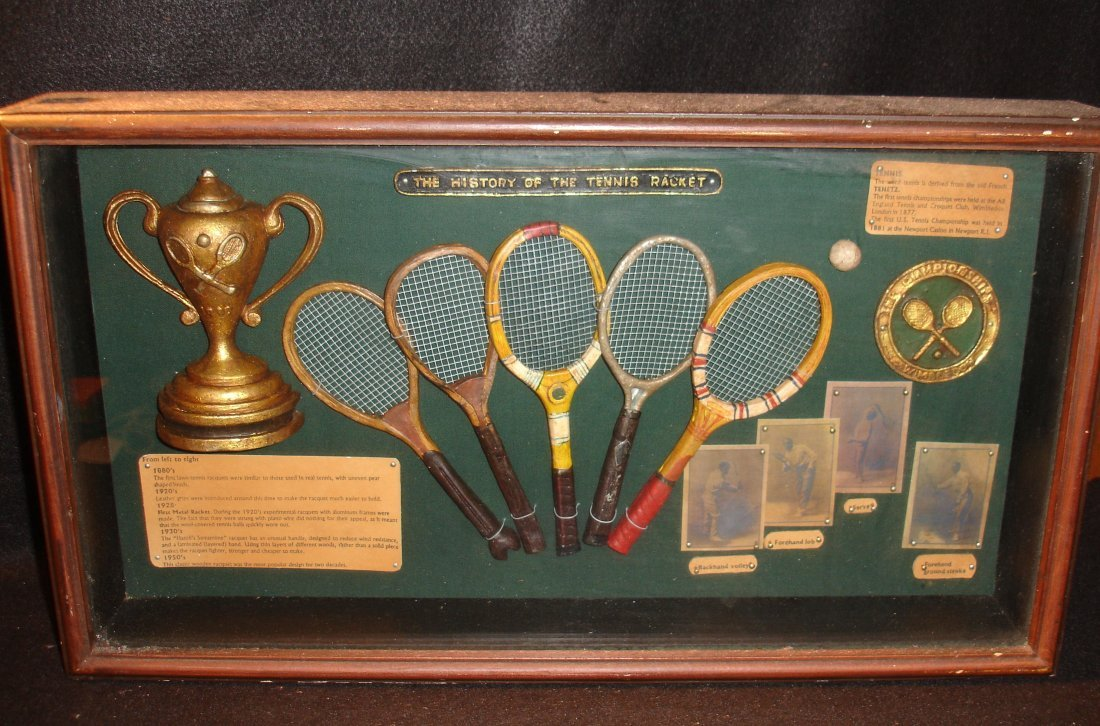 18: Vintage Cased Tennis Display