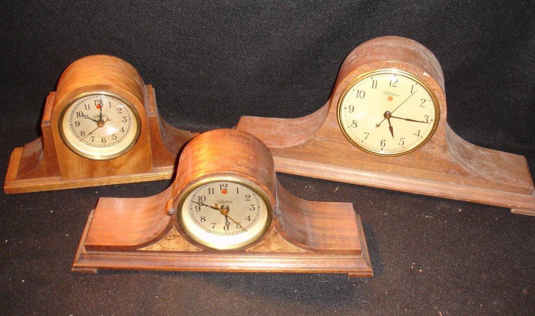 20: 3 Vintage Telechron Mantle Clock