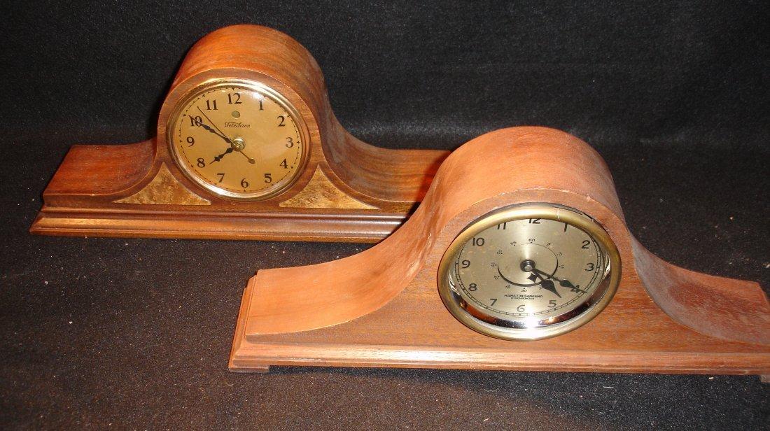 21: 2 Vinatge Mantle Clocks Sangamo