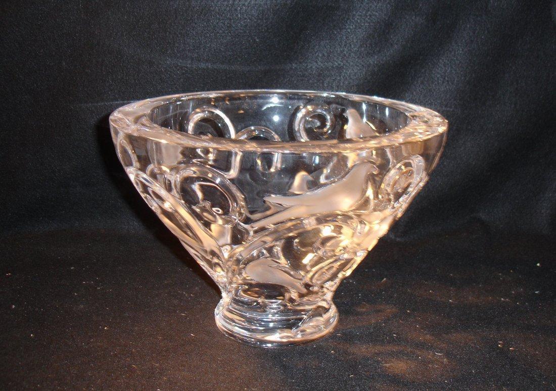 36: Lalique Verone Crystal Bowl