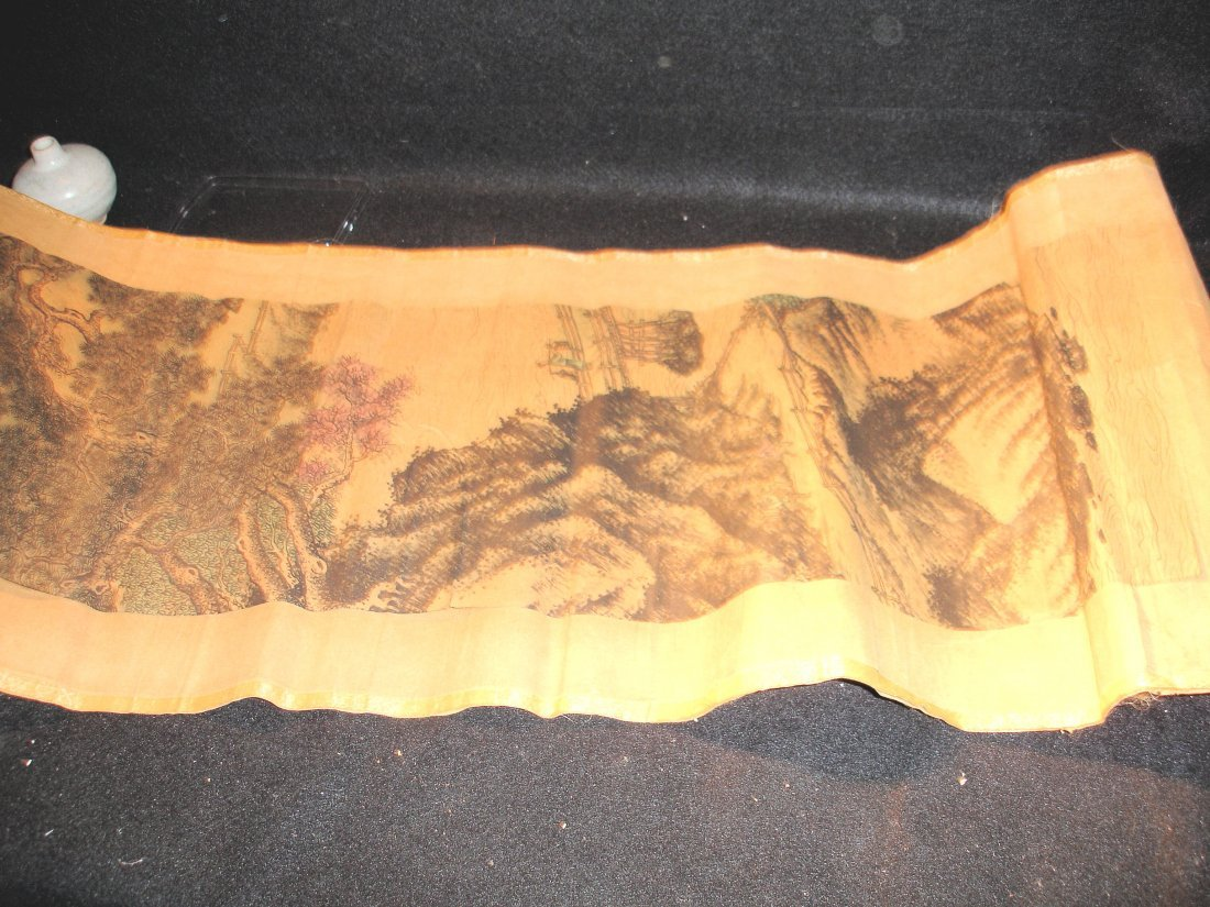 208: Old Chinese Scroll Painting Signed - 3