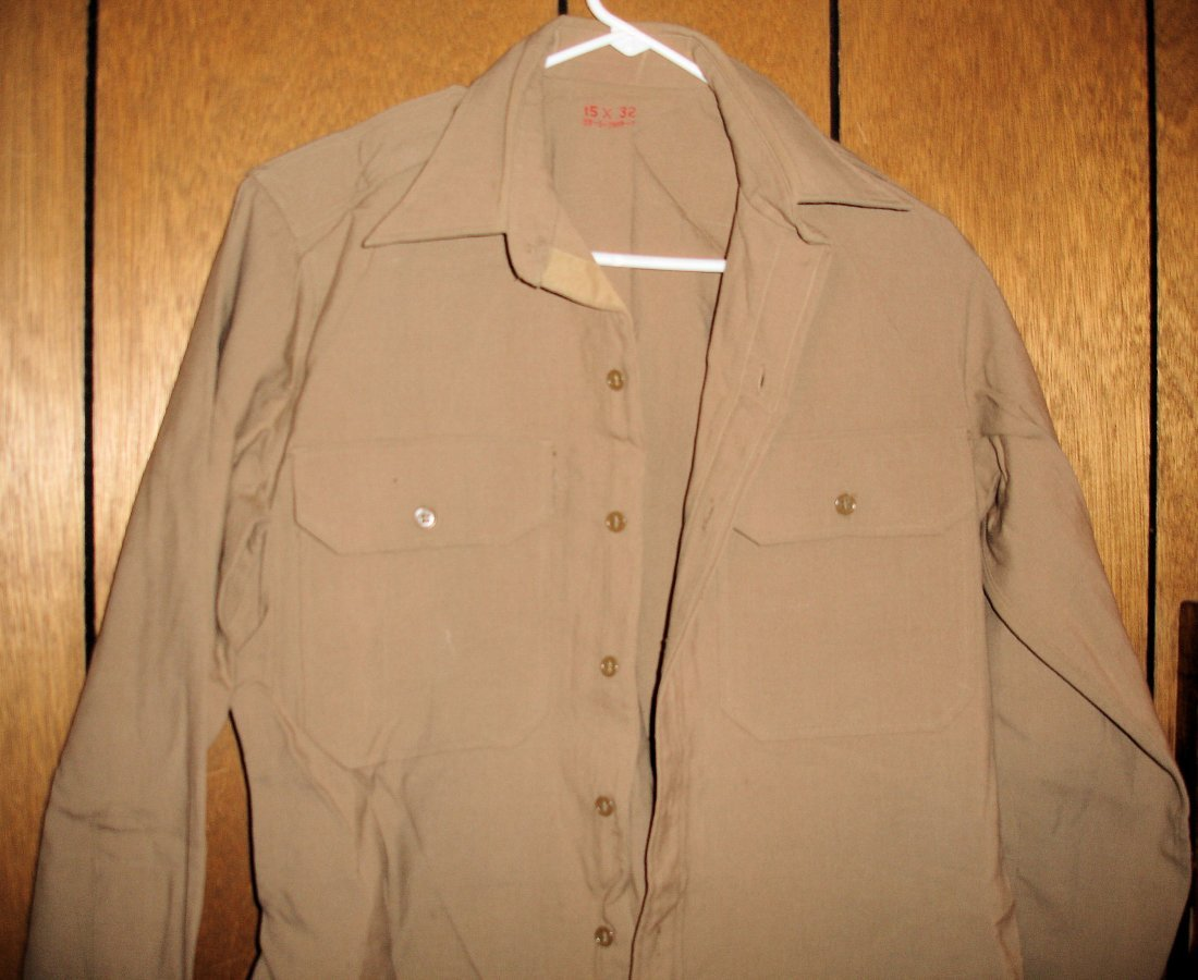 1: Plain Tan US Military Shirt