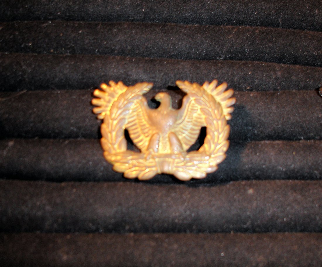 29: US Military Bronze Officers Hat Eagle