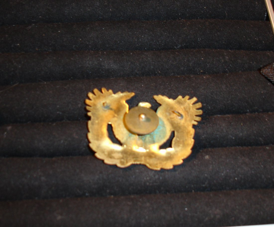 29: US Military Bronze Officers Hat Eagle - 2