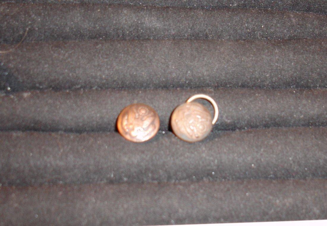 93: 2 Civil War Era Buttons JR Count England