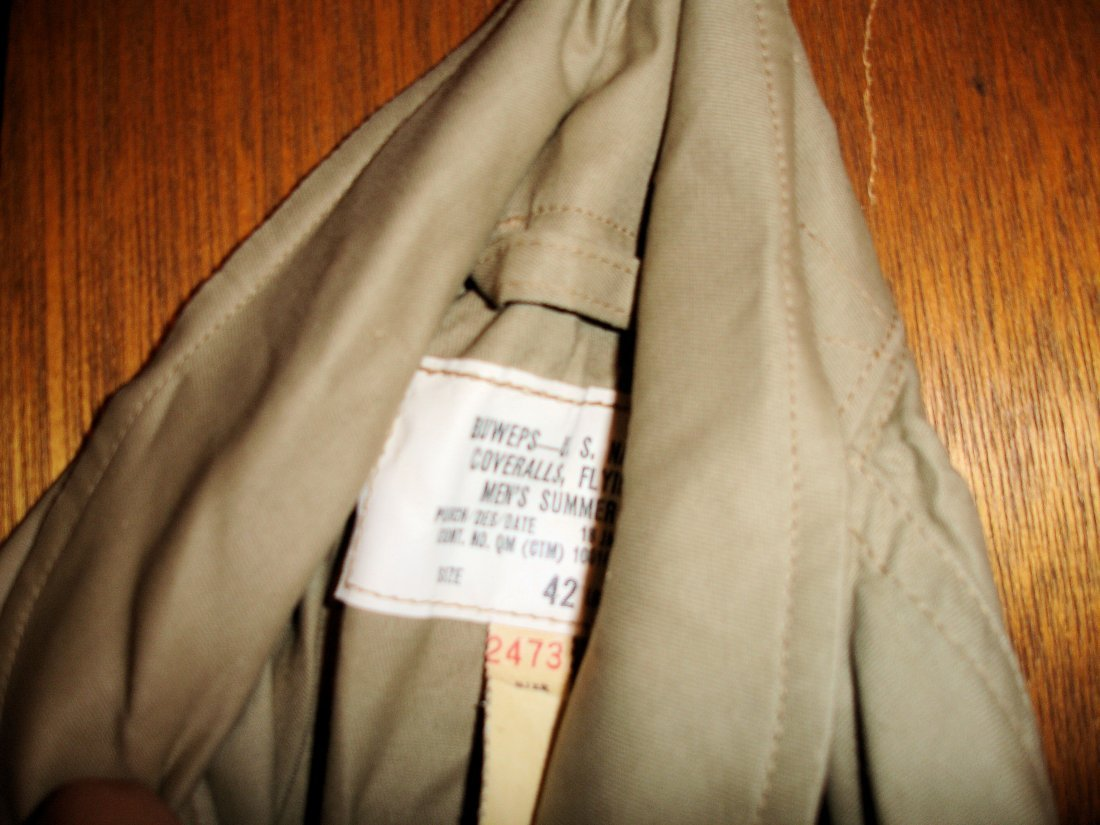 200: Buweps US Navy Flying Coveralls 1961 - 3