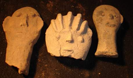 41: 3 Early African Terracotta Heads