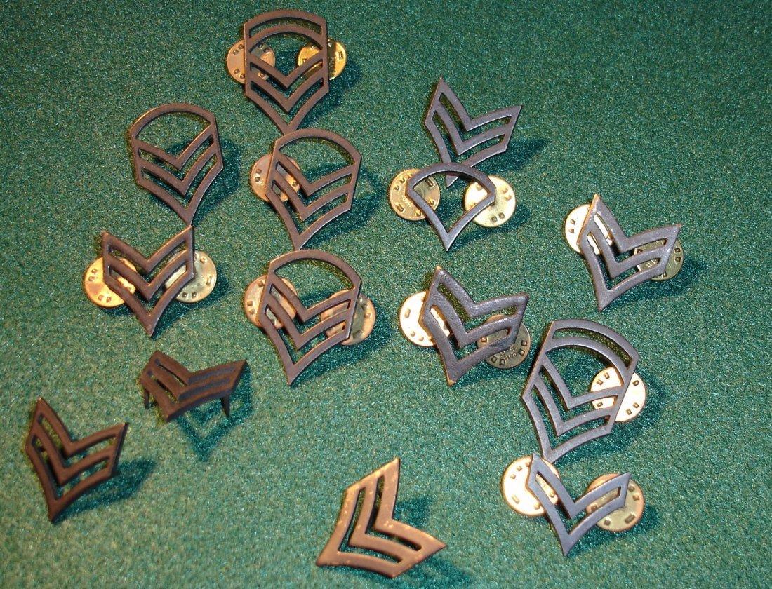 1: 14 US Miltary Rank Pins