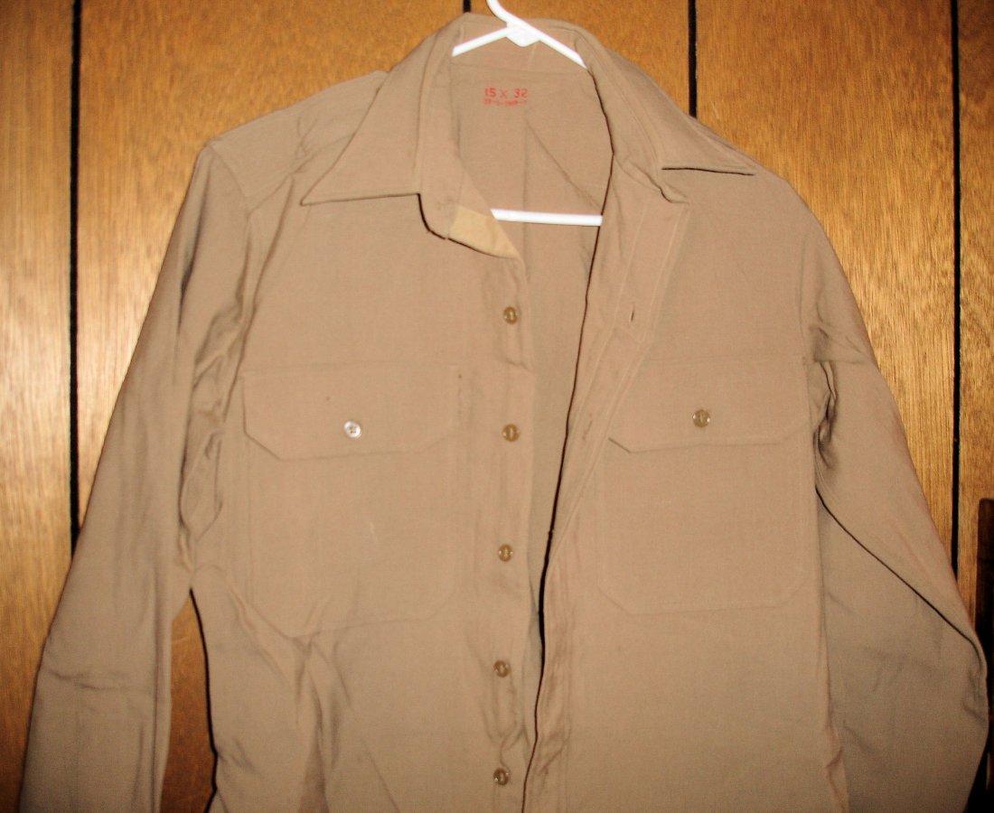 11: Tan US Military Shirt