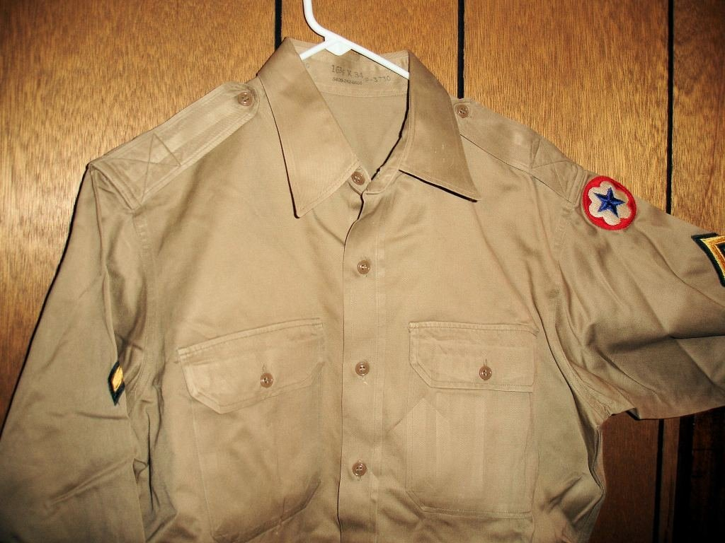 12: Tan Army Shirt, Private, Army Service