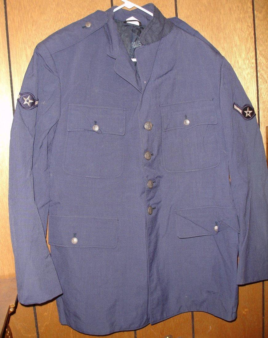 15: Korean War Era Dress Blue Buttoned Coat