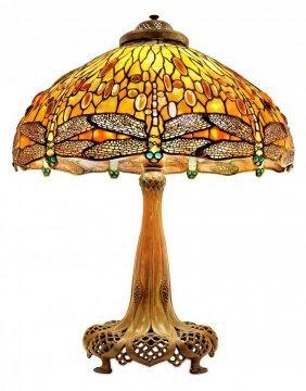 Important Tiffany Dragonfly Lamp