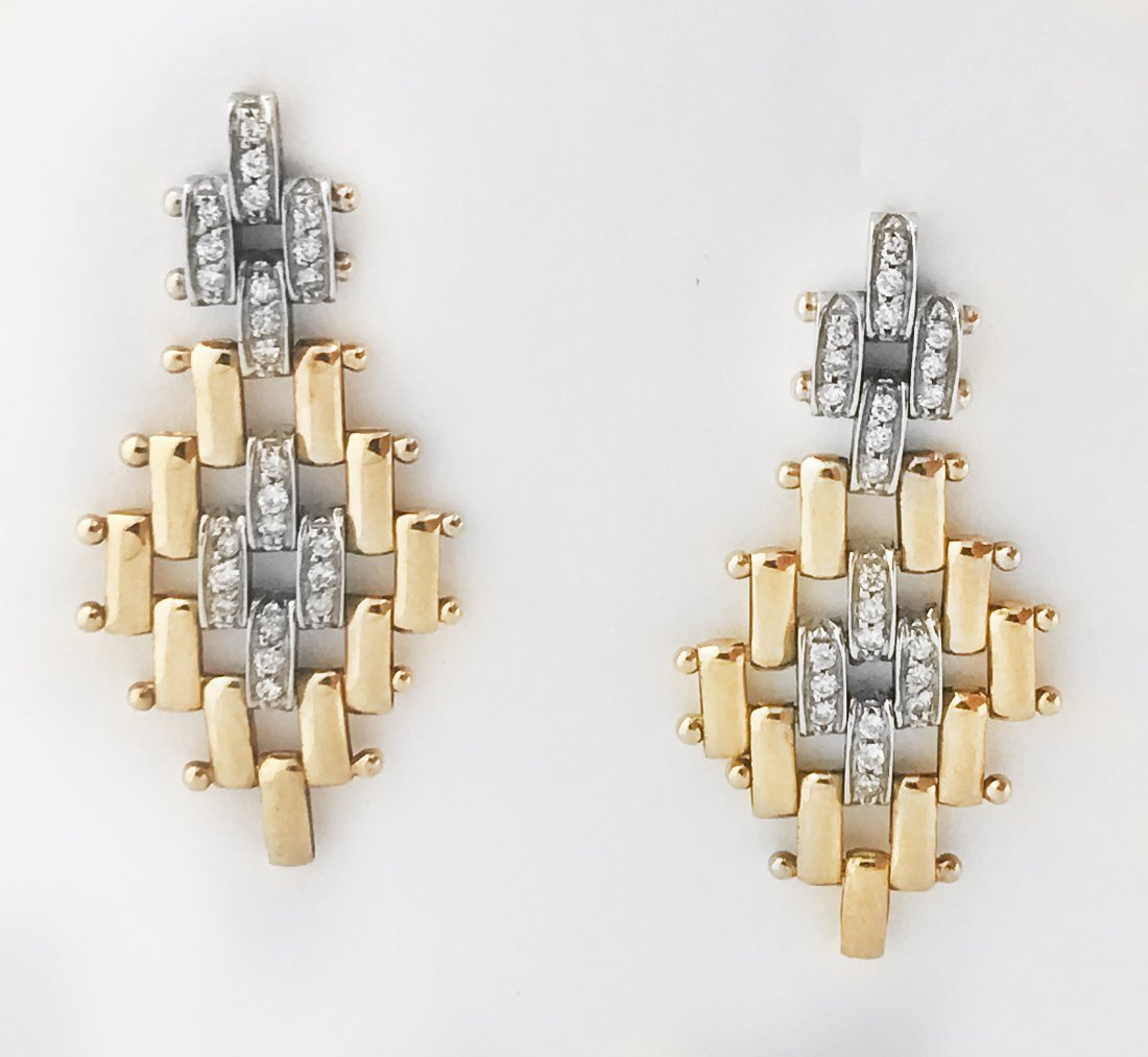 14 KT GOLD AND DIAMOND EARRINGS