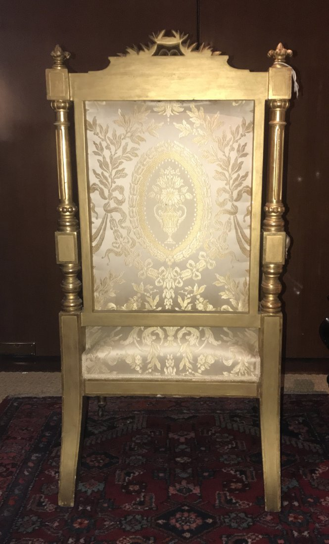 FINE SET OF TEN LOUIS XVI STYLE GILTWOOD DINING CHAIRS - 7