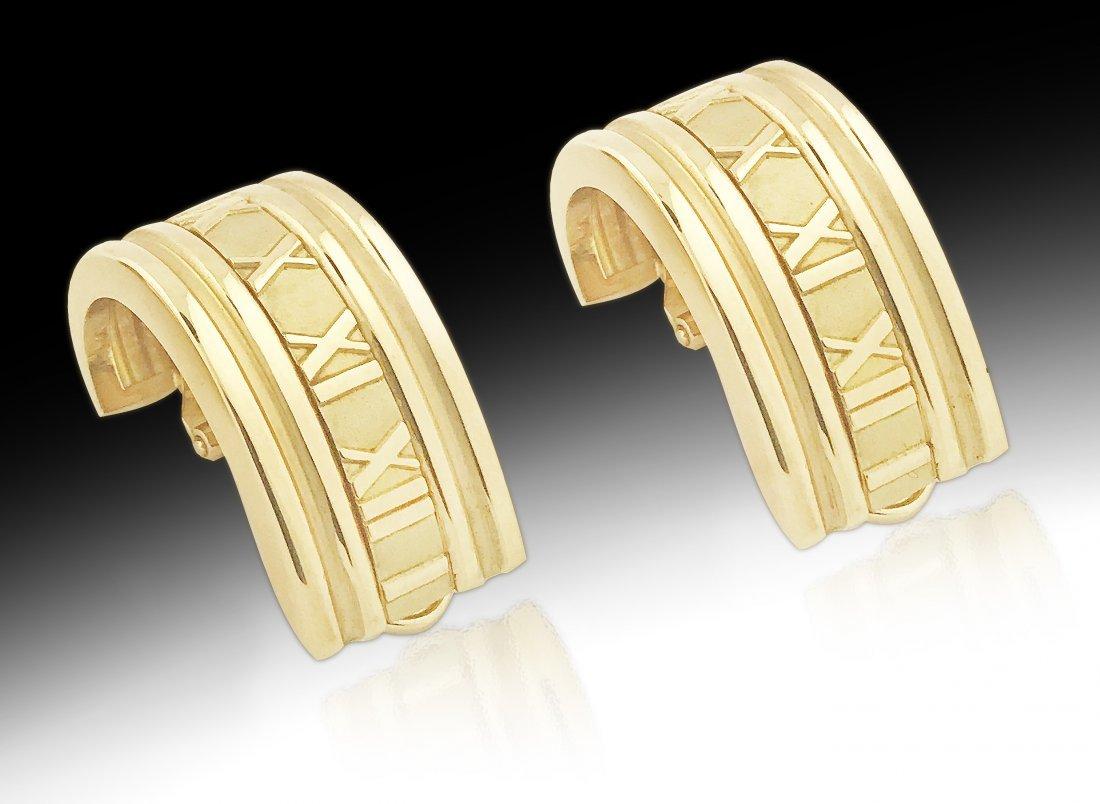 TIFFANY & CO.,18 Karat Gold Extra Large Atlas Ear Clips